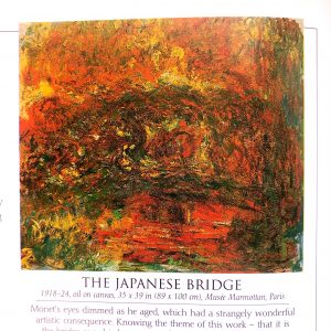 Print of the Japanese Bridge painting by Claude Monet.