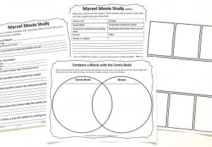 Movie Study printable pages from Stan Lee Unit Study.